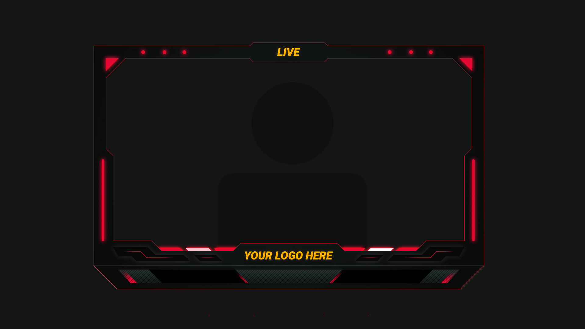 Red Simple webcam overlay - Streamer Overlays