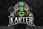 mascot logo for sale Streamer overlays premade mascot esports logos for sale