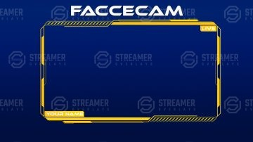 Webcam Streamer overlay | Streamer Overlays