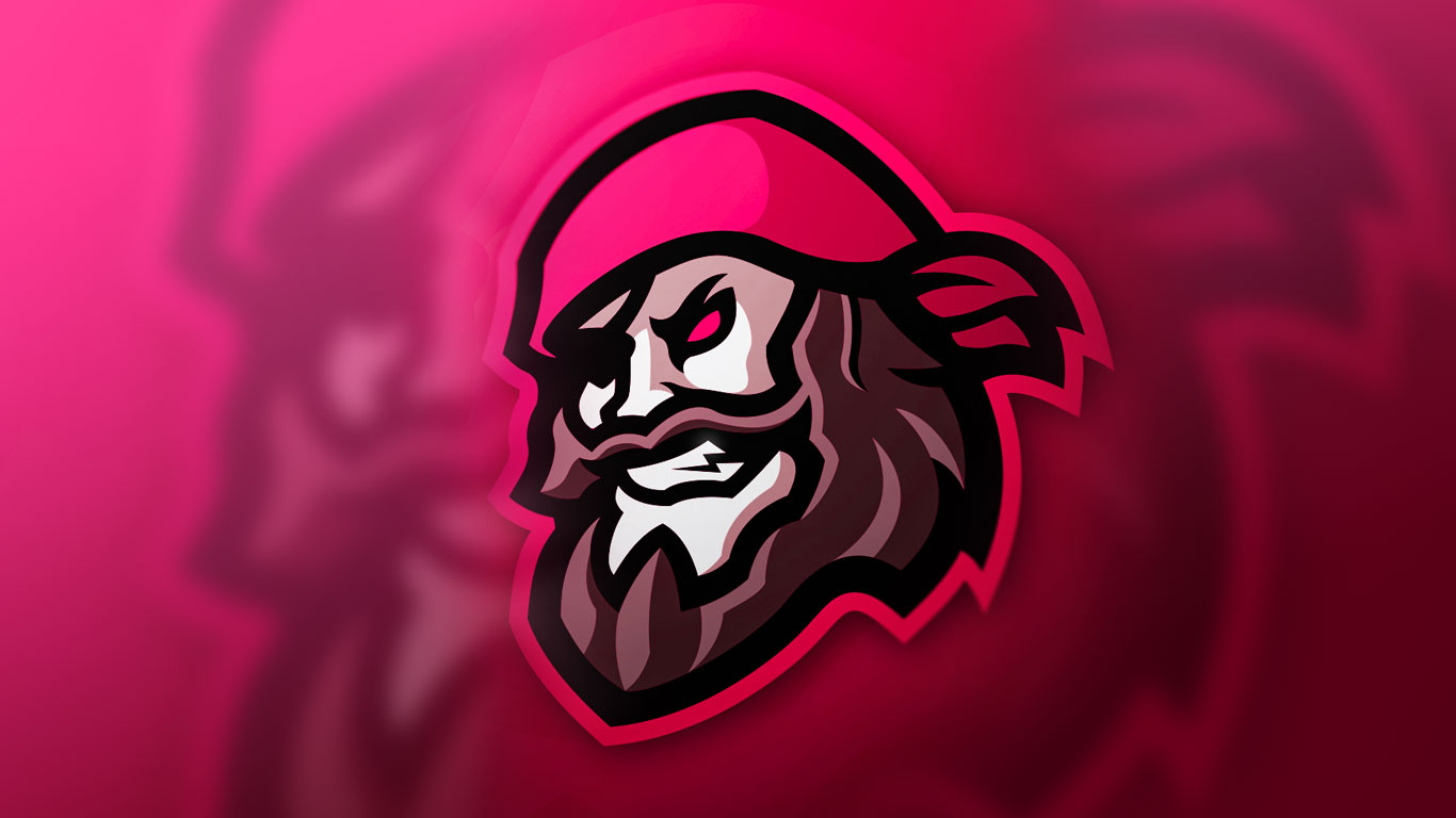 premade pirate logo | premade pirate mascot logo