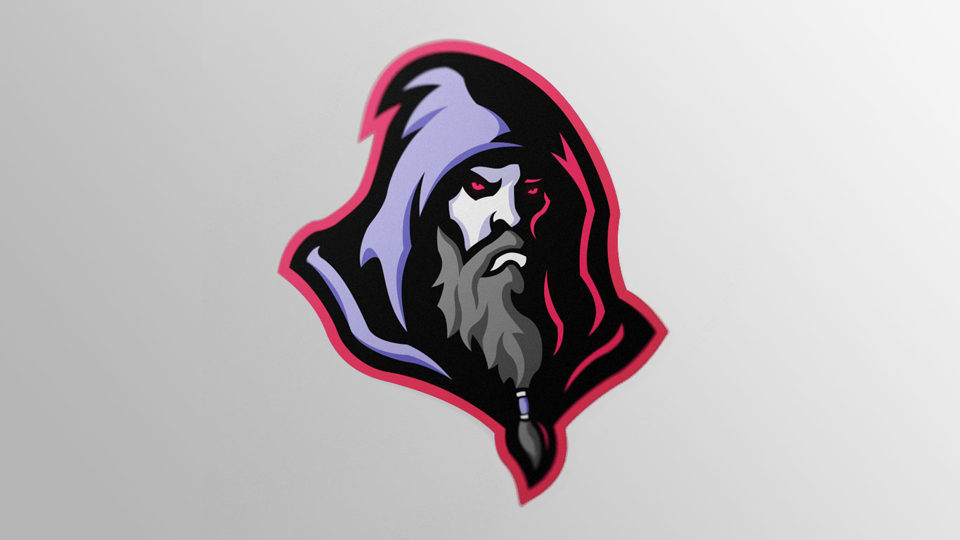 Premade esports wizard logo for sale