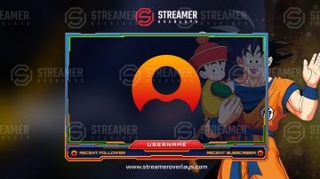Dragonball z Webcam Stream Overlay | Streamer Overlays