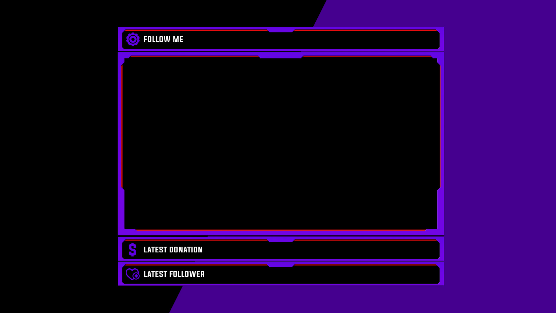 Purple Minimal webcam Overlay