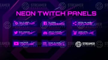 Neon Twitch Panels NFS Heat twitch Panels