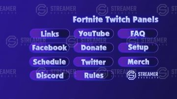 Fortnite Twitch Streaming Panels