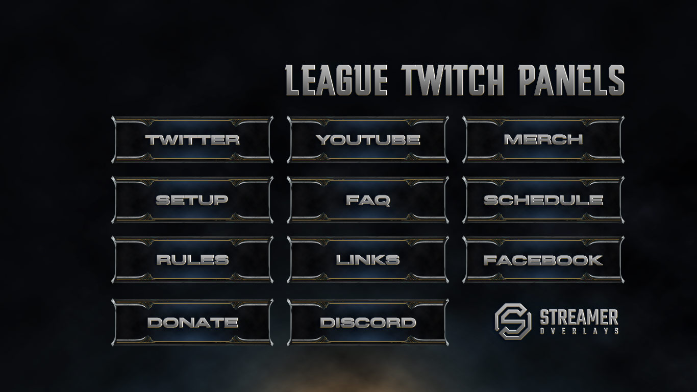 League of Legends Twitch Panels