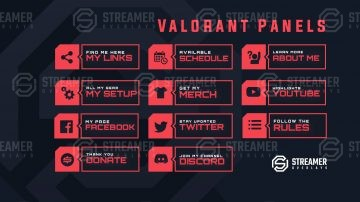Valorant Twitch Panels Streamer overlays
